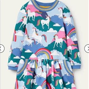 NWT mini boden Cosy Printed Sweatshirt Dress